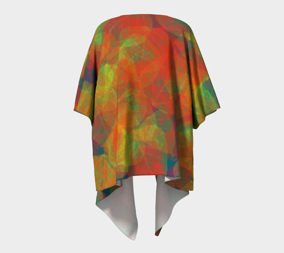Abstract Leaf Draped Kimono preview #4