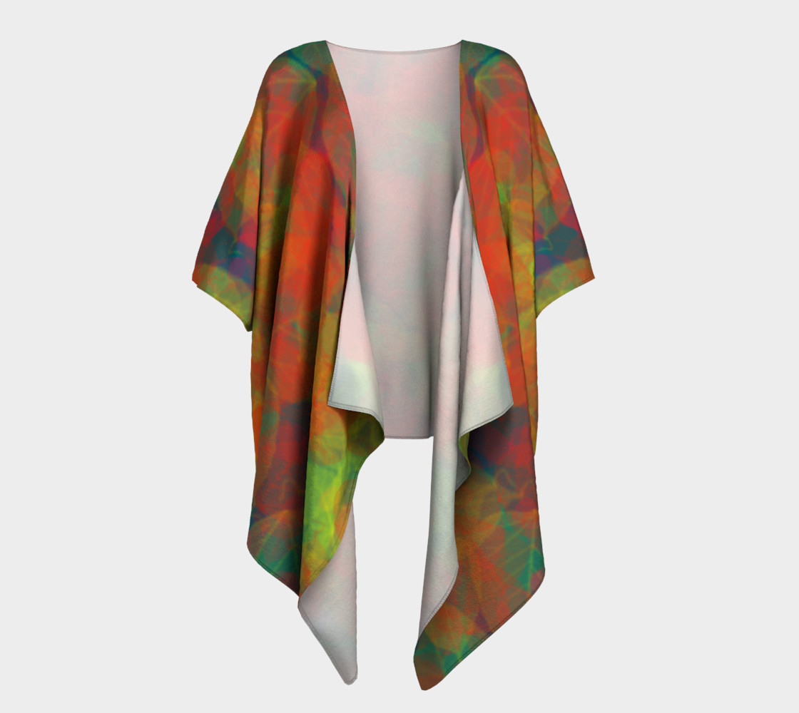 Abstract Leaf Draped Kimono preview #1
