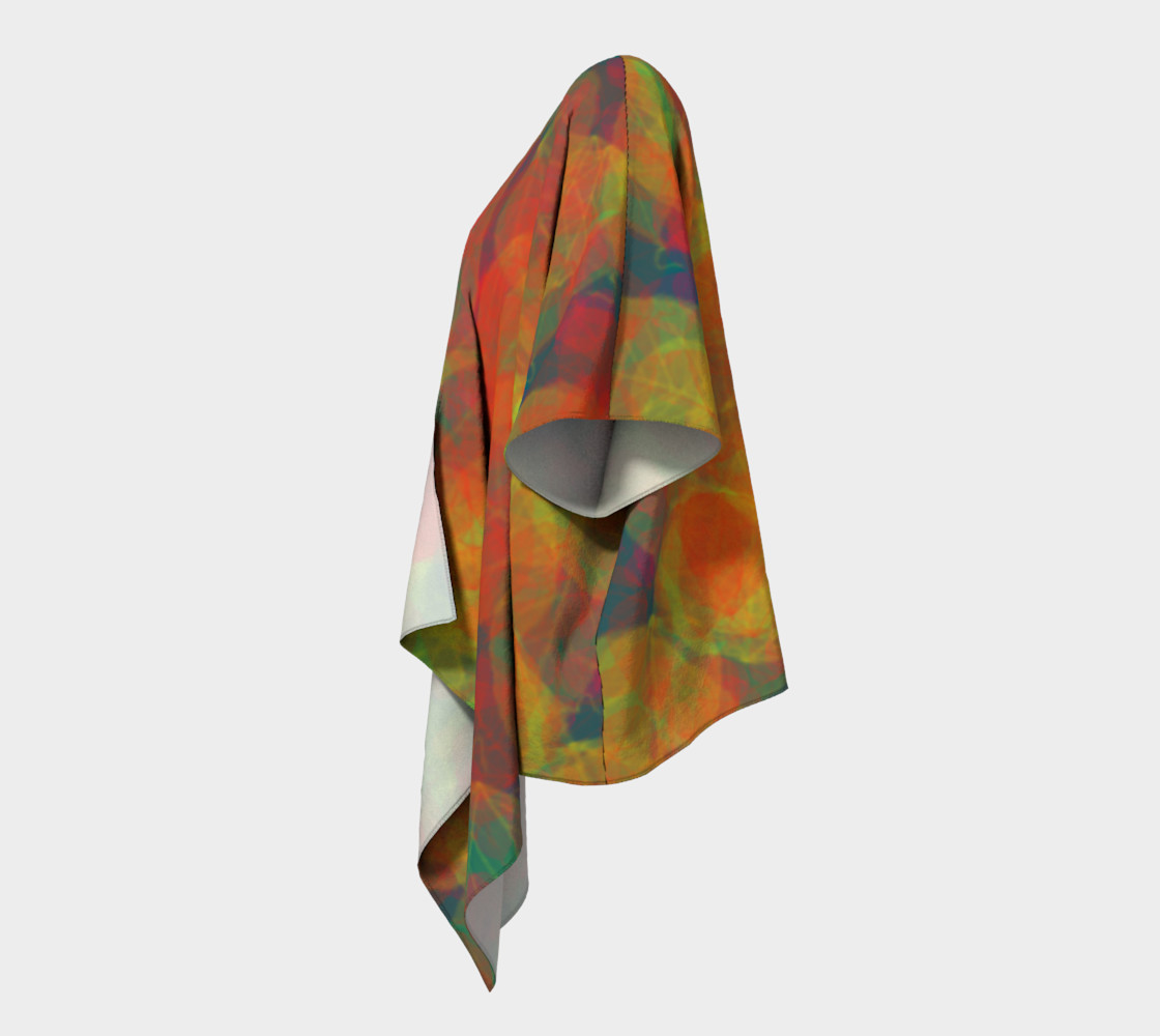 Abstract Leaf Draped Kimono preview #2