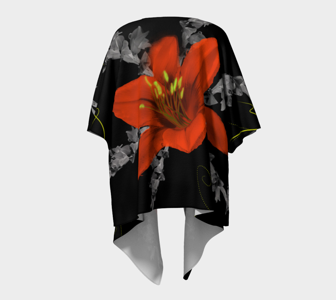Lily and Gladiola Draped Kimono preview #4