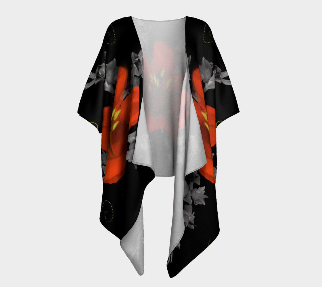 Lily and Gladiola Draped Kimono 3D preview