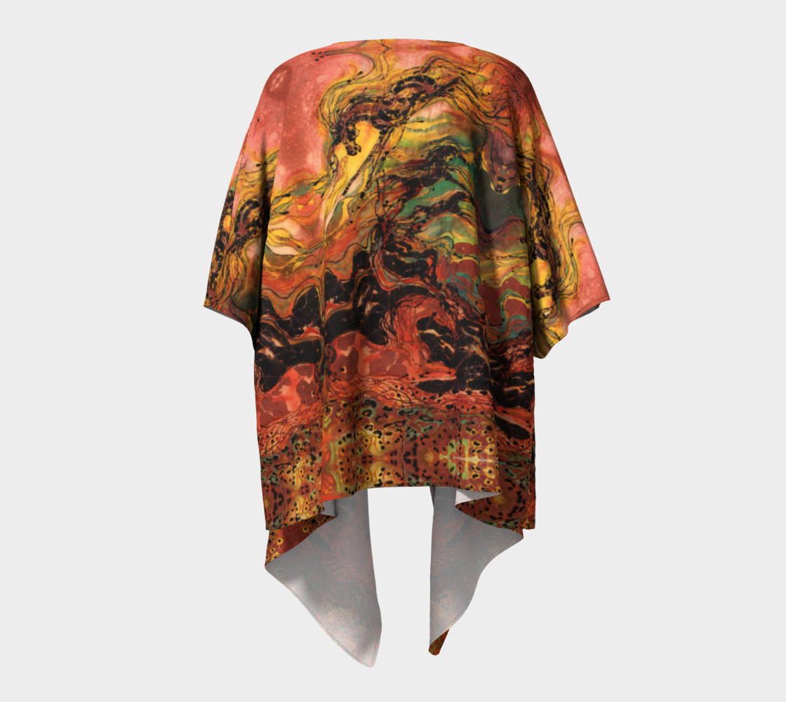 Caught in the Thunderstorm Draped Kimono preview #4