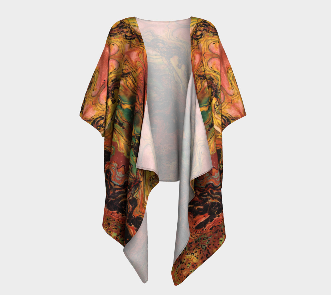 Caught in the Thunderstorm Draped Kimono preview #1