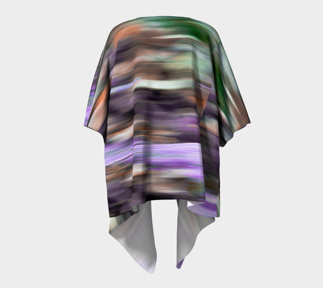 Color Blur Draped Kimono preview #4
