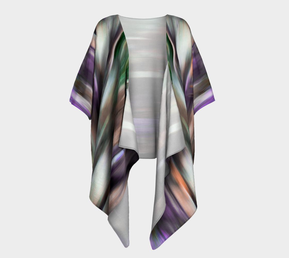 Color Blur Draped Kimono preview #1