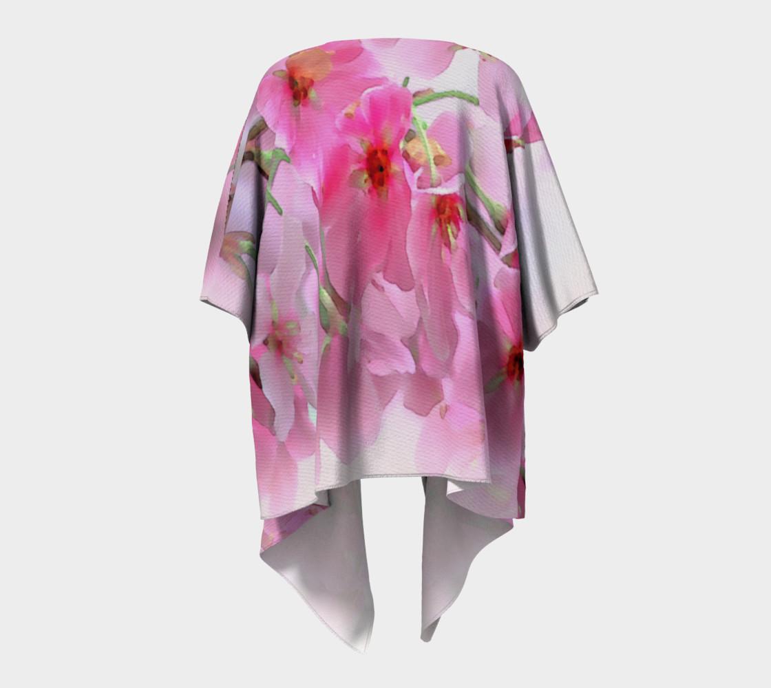 Water Color Peach Blossom Floral Draped Kimono preview #4
