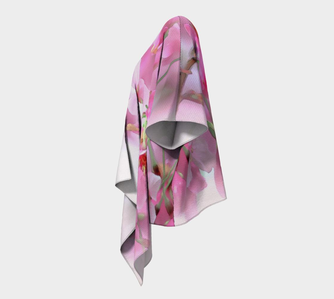 Water Color Peach Blossom Floral Draped Kimono preview #2