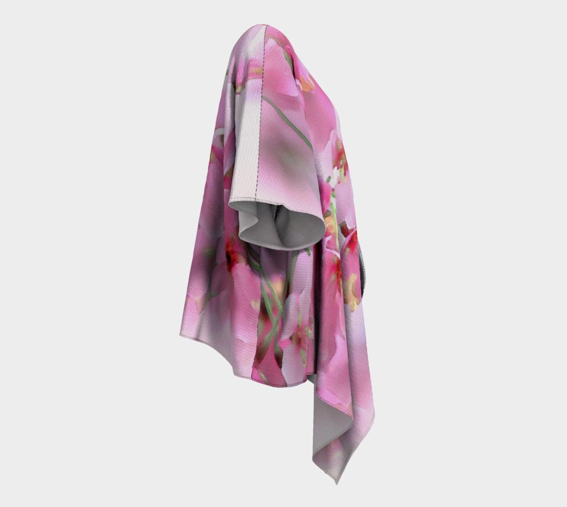 Water Color Peach Blossom Floral Draped Kimono preview #3