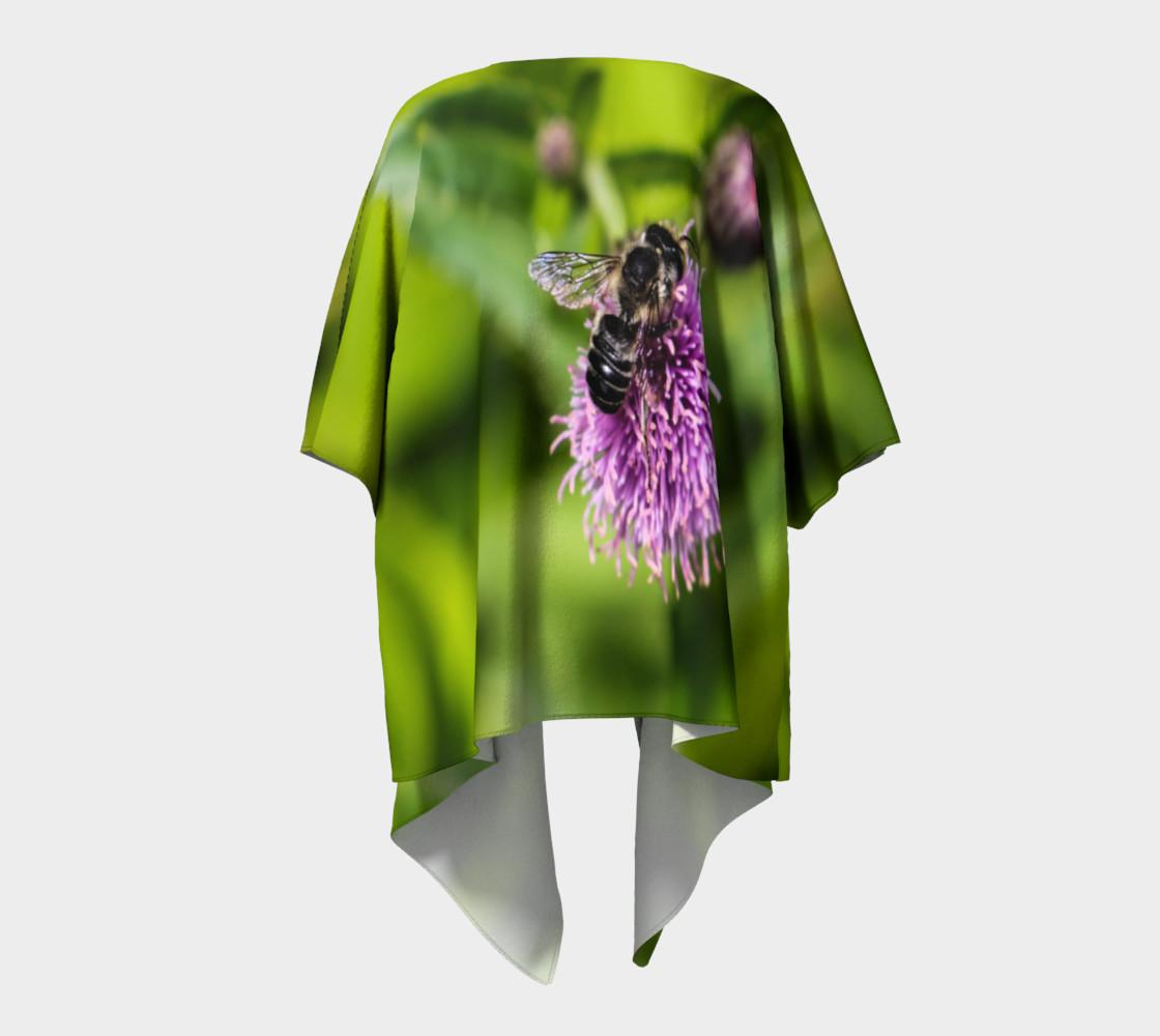 Aperçu de A Bee on a Purple Flower Draped Kimono #4