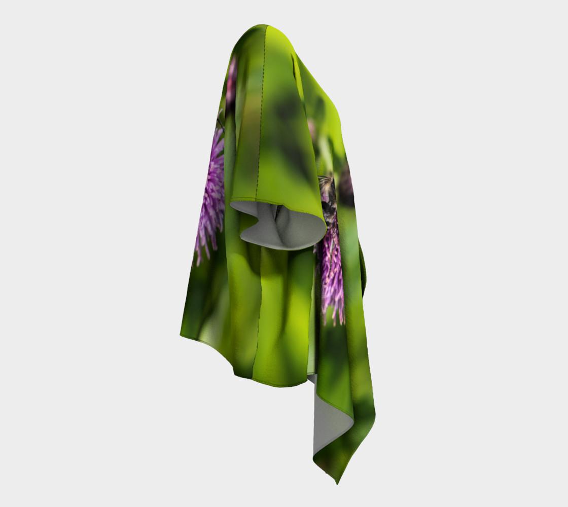 Aperçu de A Bee on a Purple Flower Draped Kimono #3