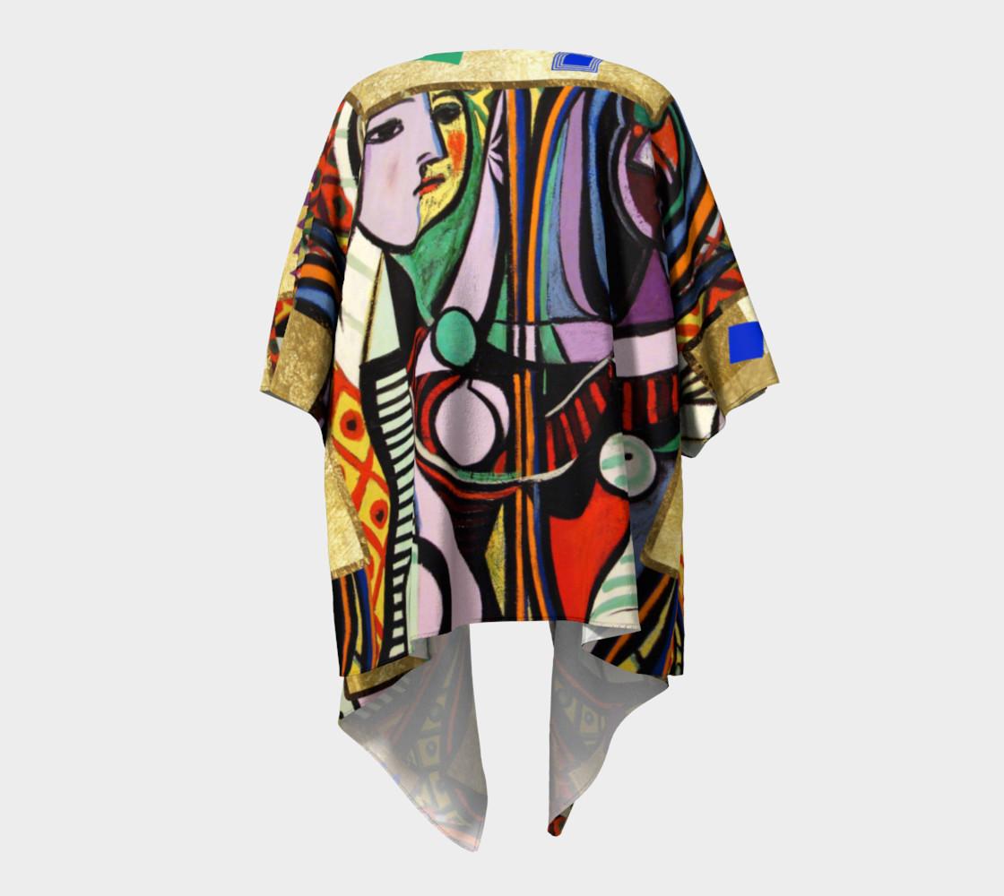 Picasso art collage  Draped Kimono preview #4