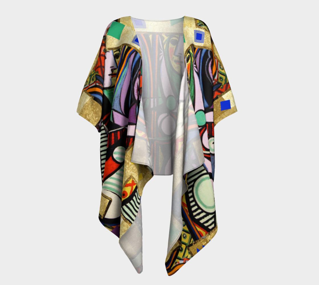 Picasso art collage  Draped Kimono preview #1