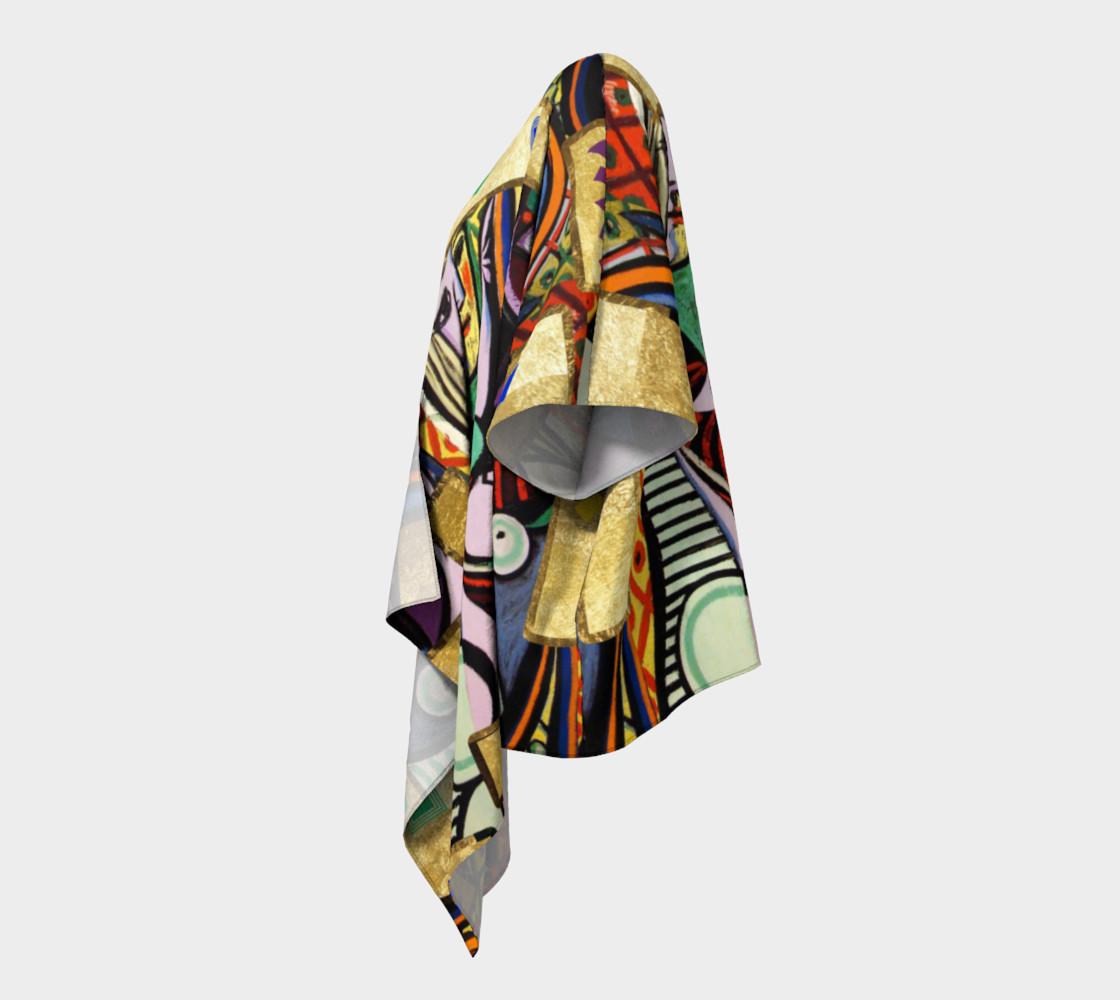 Picasso art collage  Draped Kimono preview #2