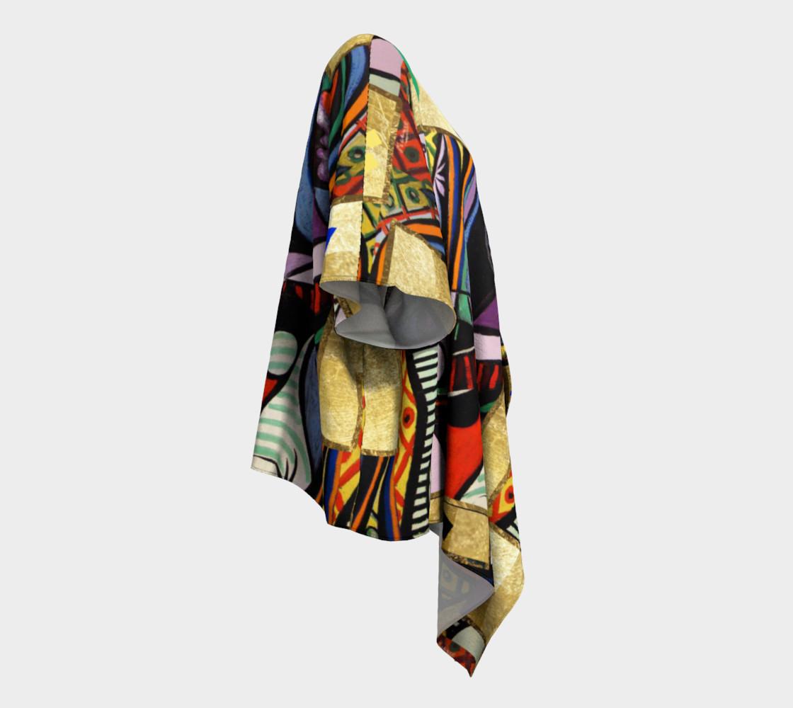 Picasso art collage  Draped Kimono preview #3