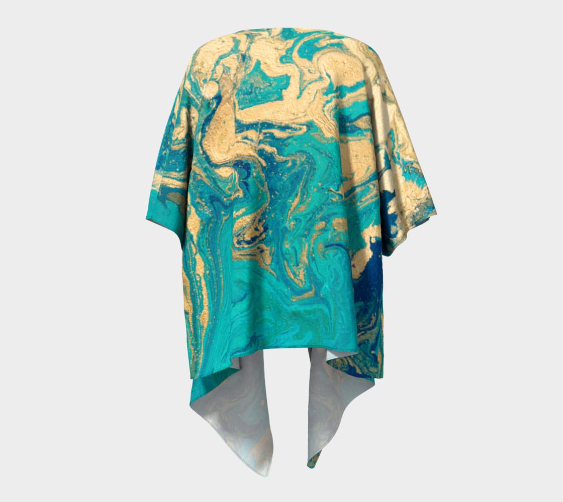 Golden Jade Draped Kimono preview #4