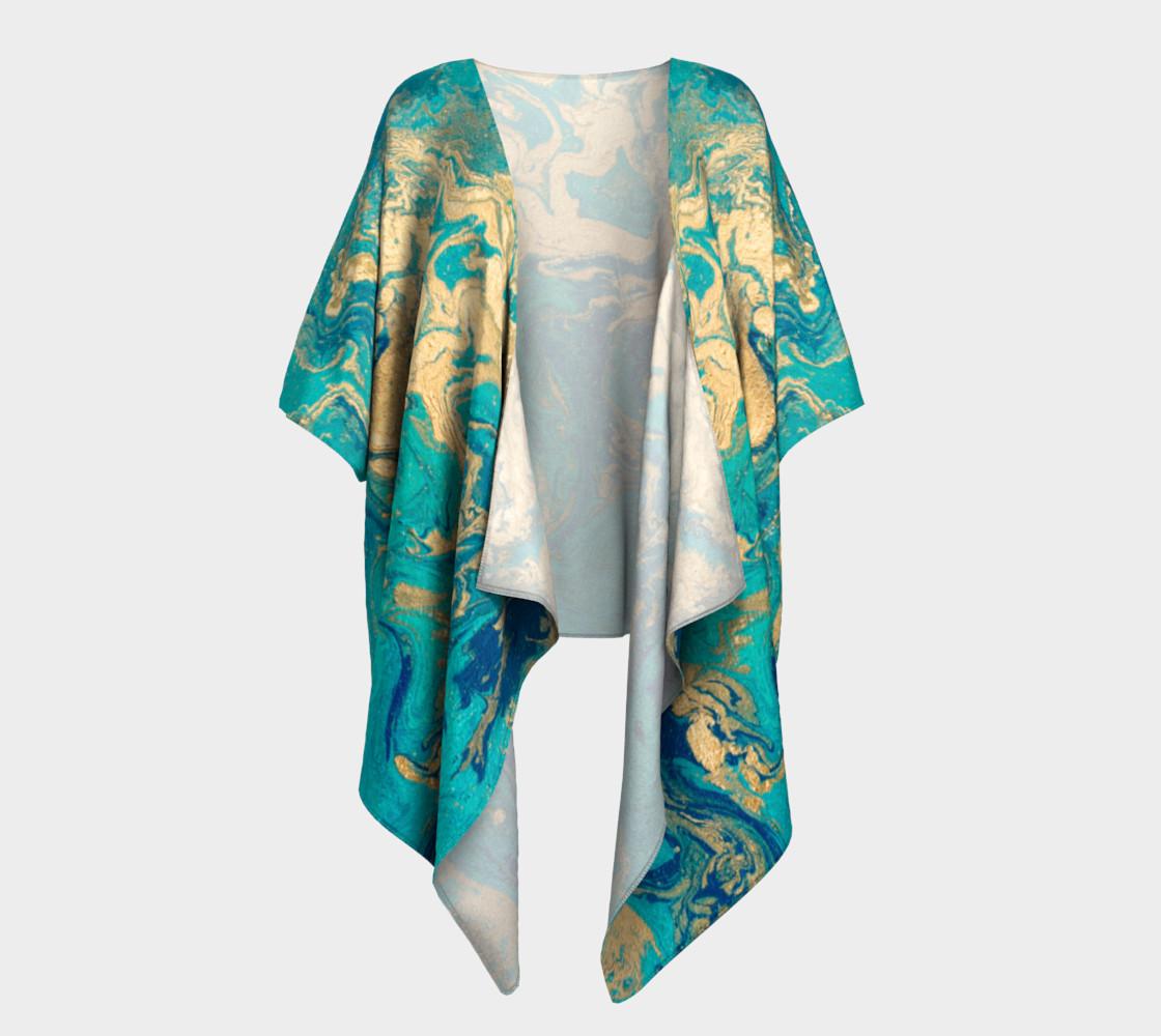 Golden Jade Draped Kimono preview #1
