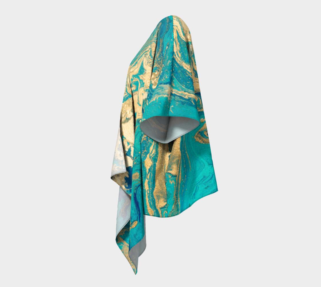 Golden Jade Draped Kimono preview #2