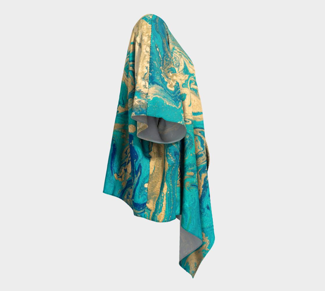 Golden Jade Draped Kimono preview #3