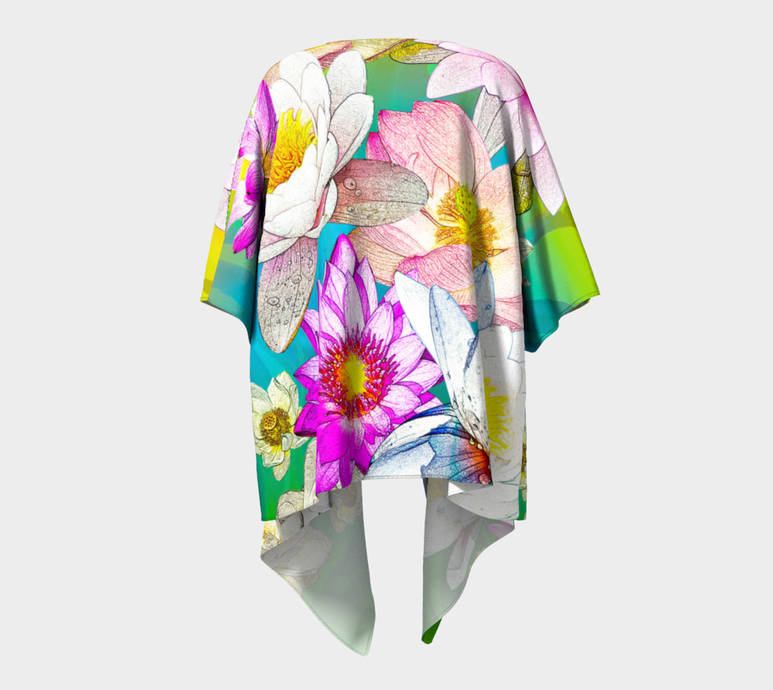 Lotus   pond Draped Kimono preview #4