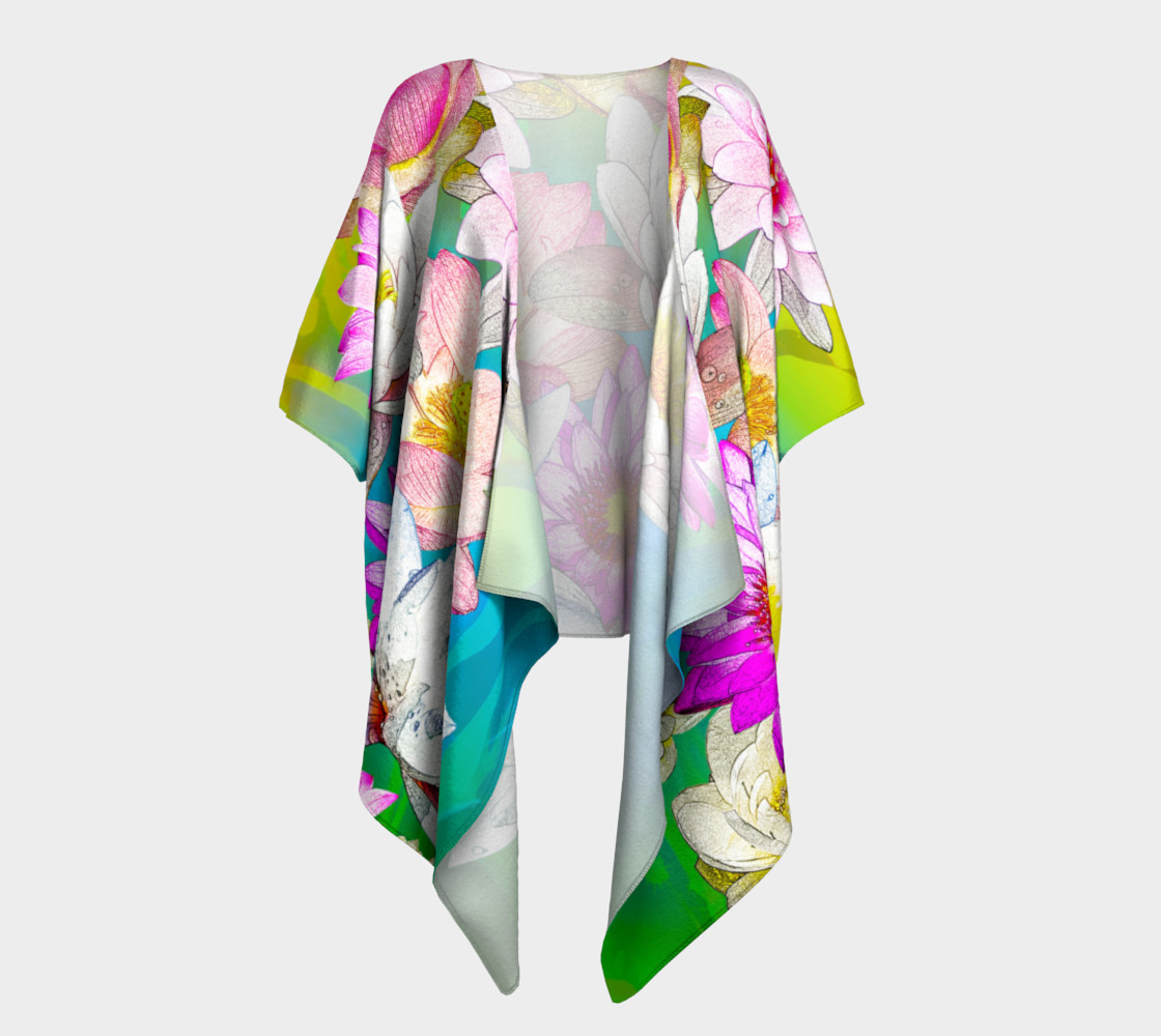 Lotus   pond Draped Kimono preview #1