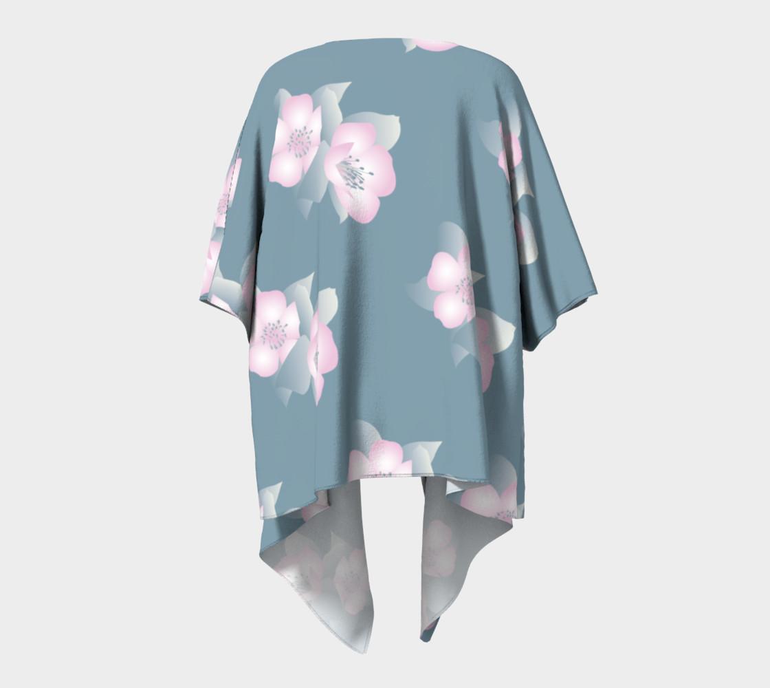 Aperçu de Wildflower Spirit Draped Silk Kimono #4
