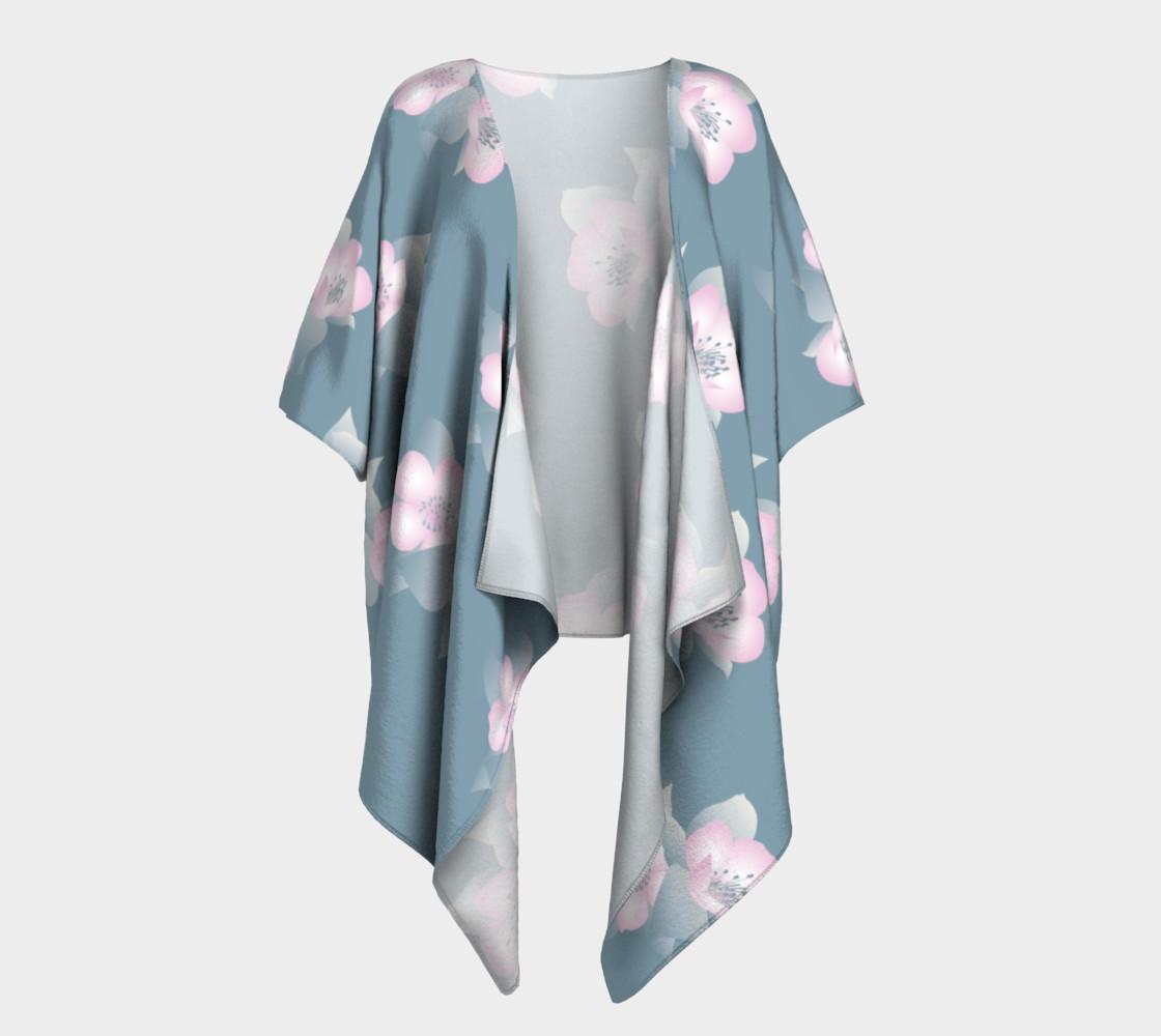 Aperçu de Wildflower Spirit Draped Silk Kimono #1