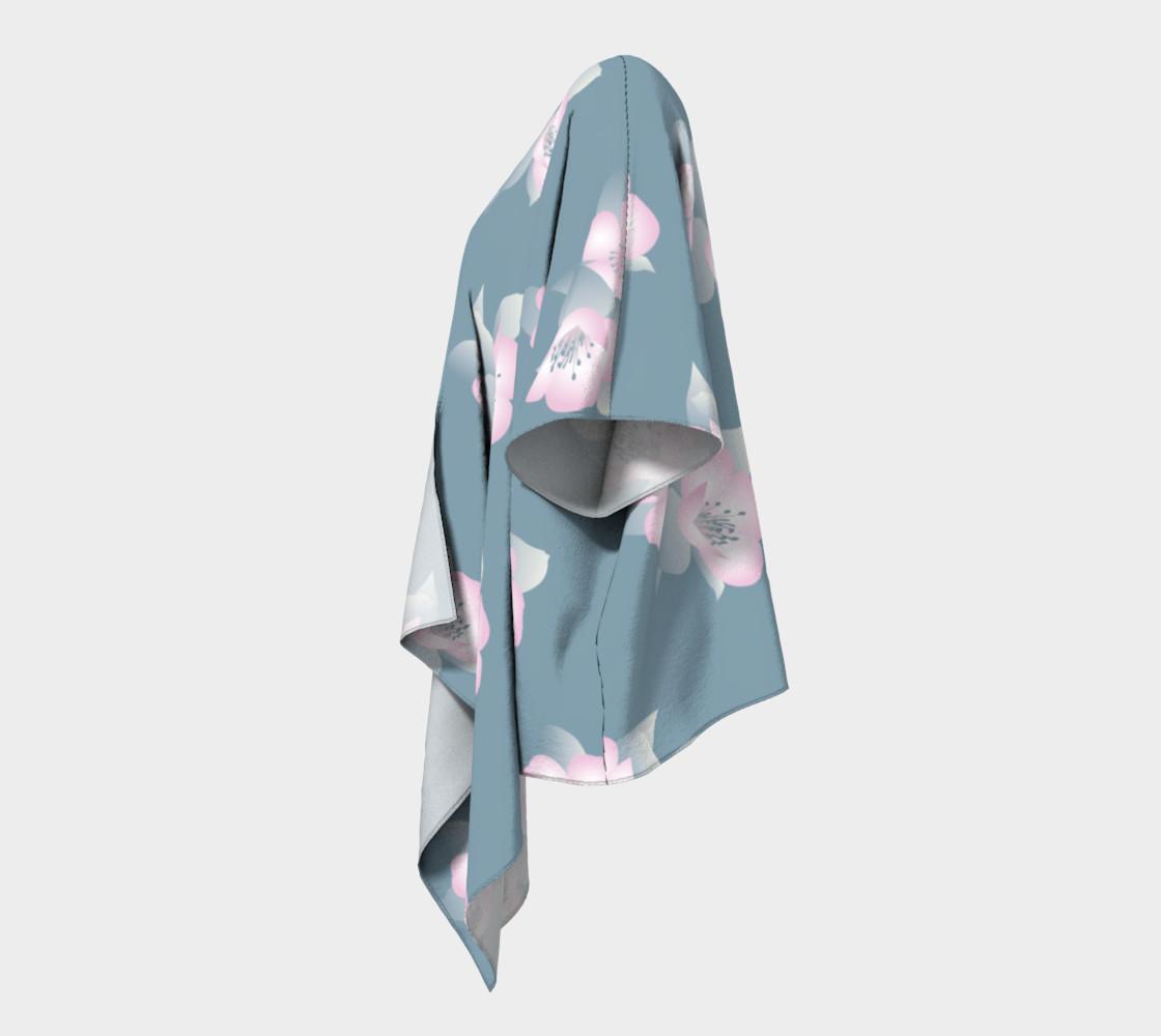 Wildflower Spirit Draped Silk Kimono preview #2