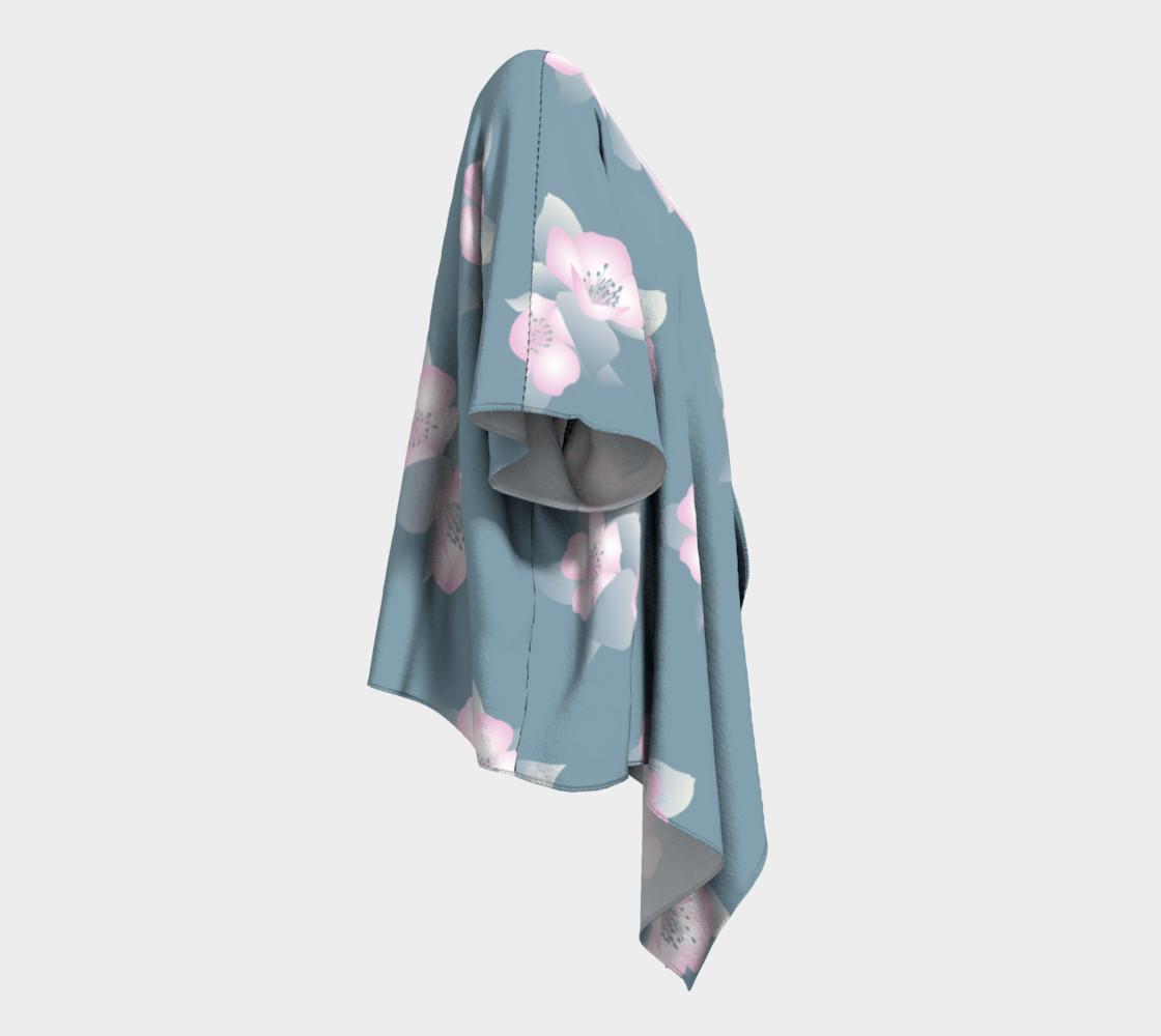 Aperçu de Wildflower Spirit Draped Silk Kimono #3