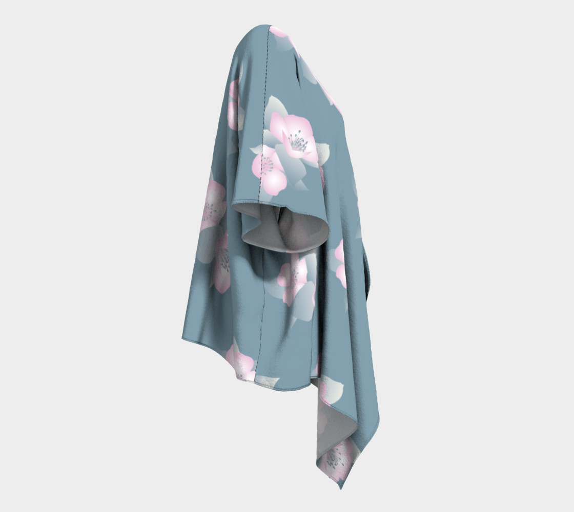 Wildflower Spirit Draped Silk Kimono preview #3