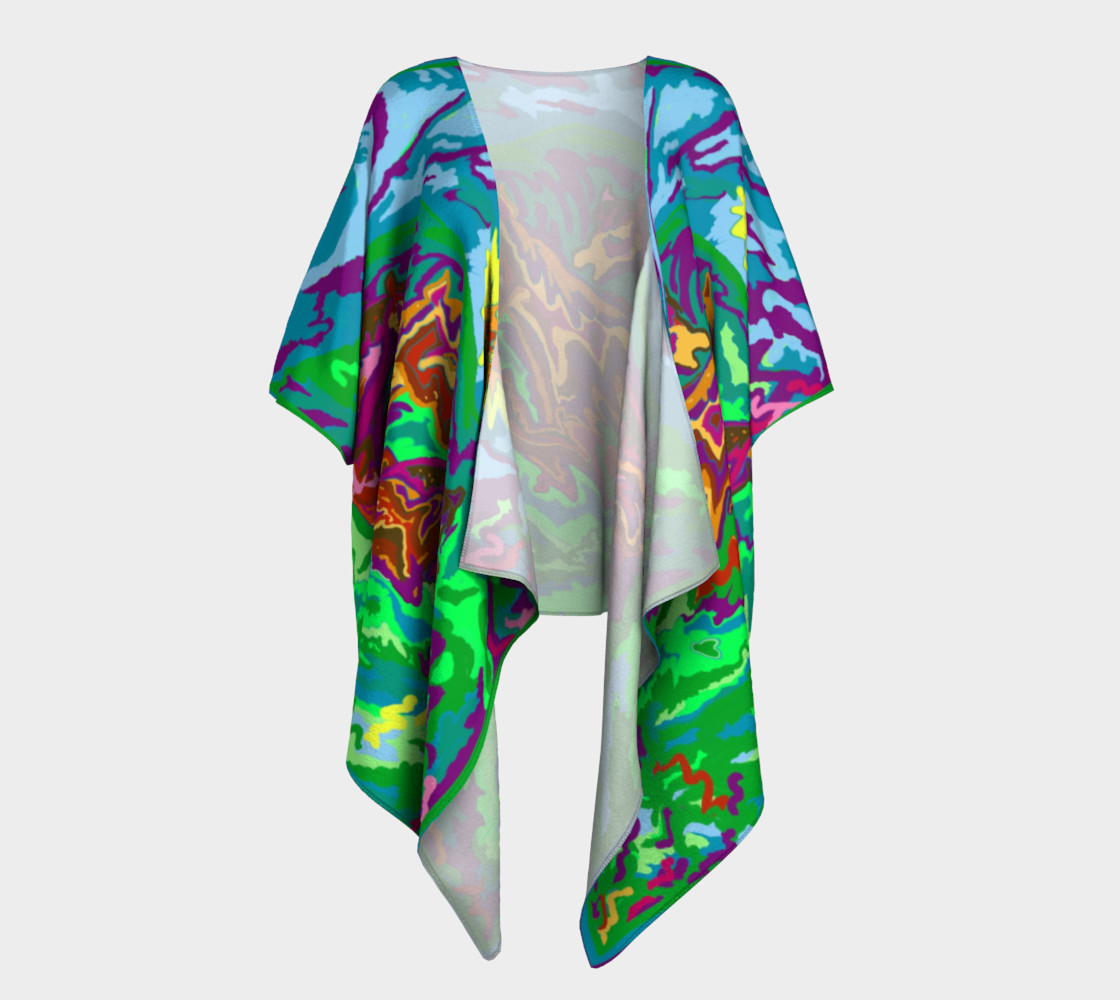 Purple Feathered Horses Kimono 2 3D preview