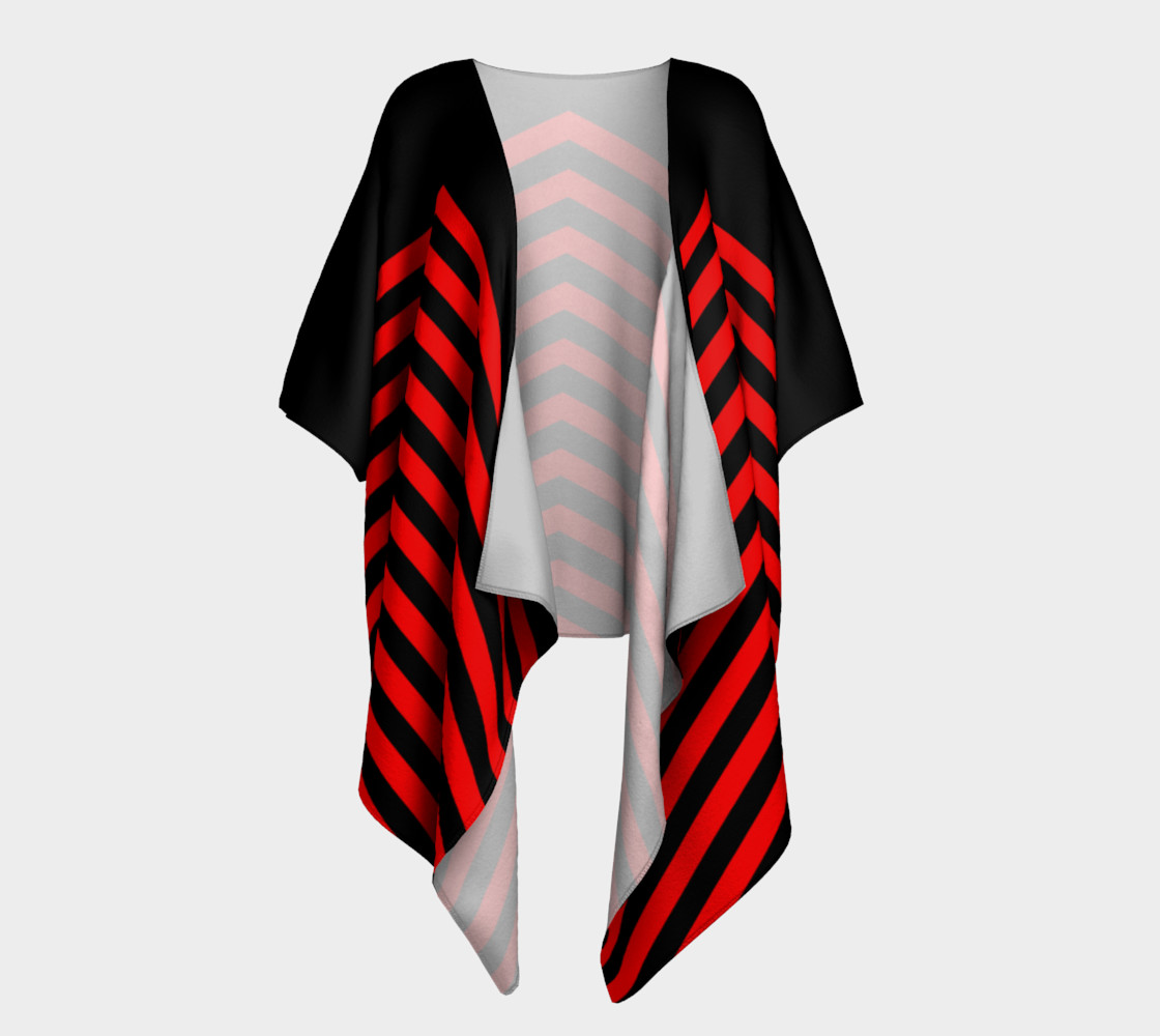 Stripes Collection - Triangle Stripes - Red   3D preview