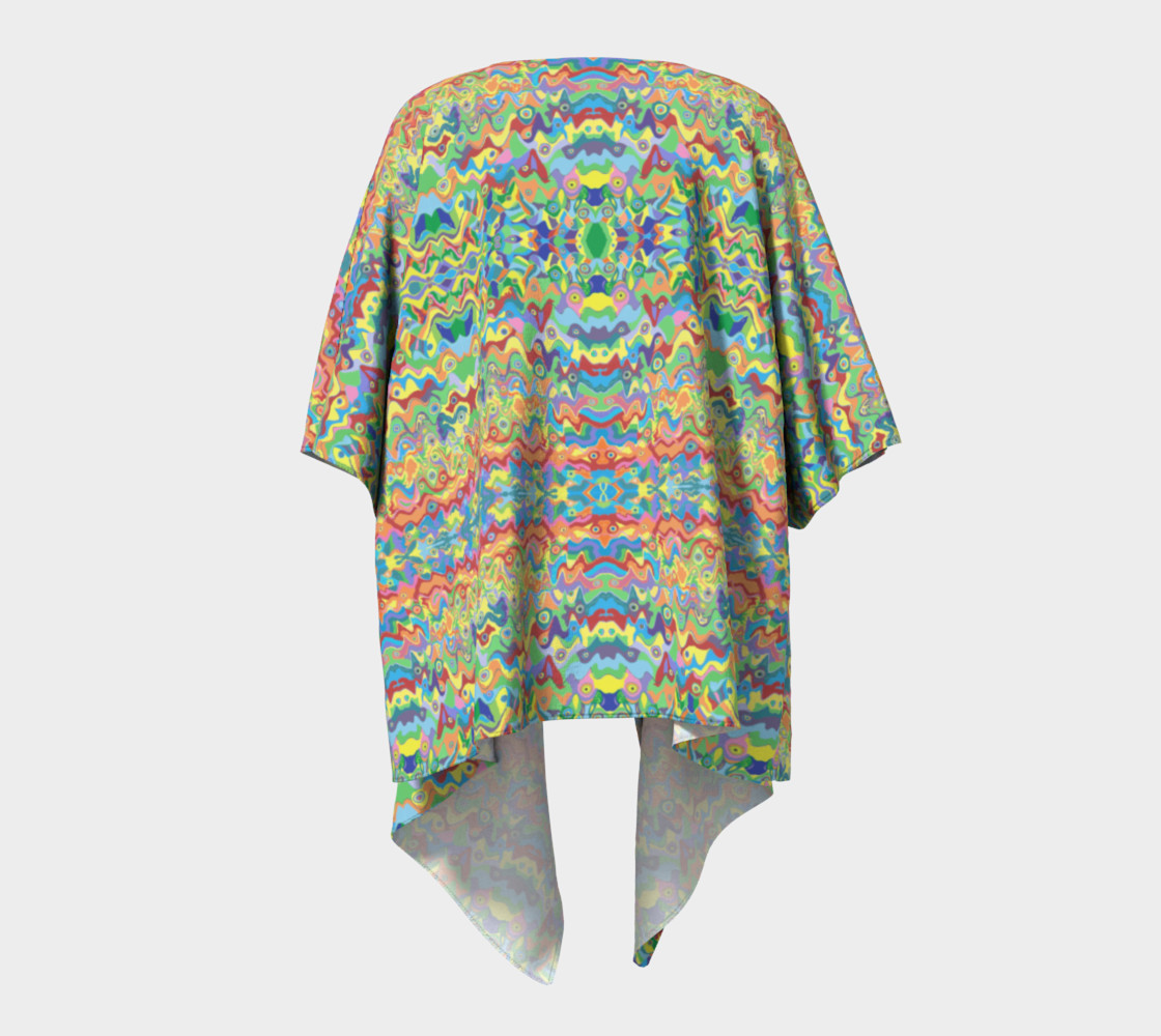 Abstract Hills Pattern Draped Kimono preview #4
