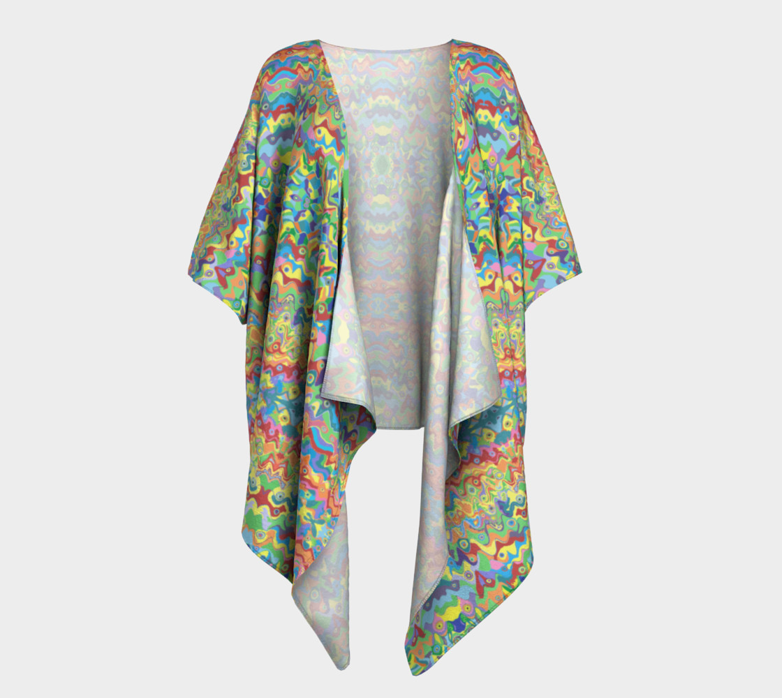Abstract Hills Pattern Draped Kimono preview #1