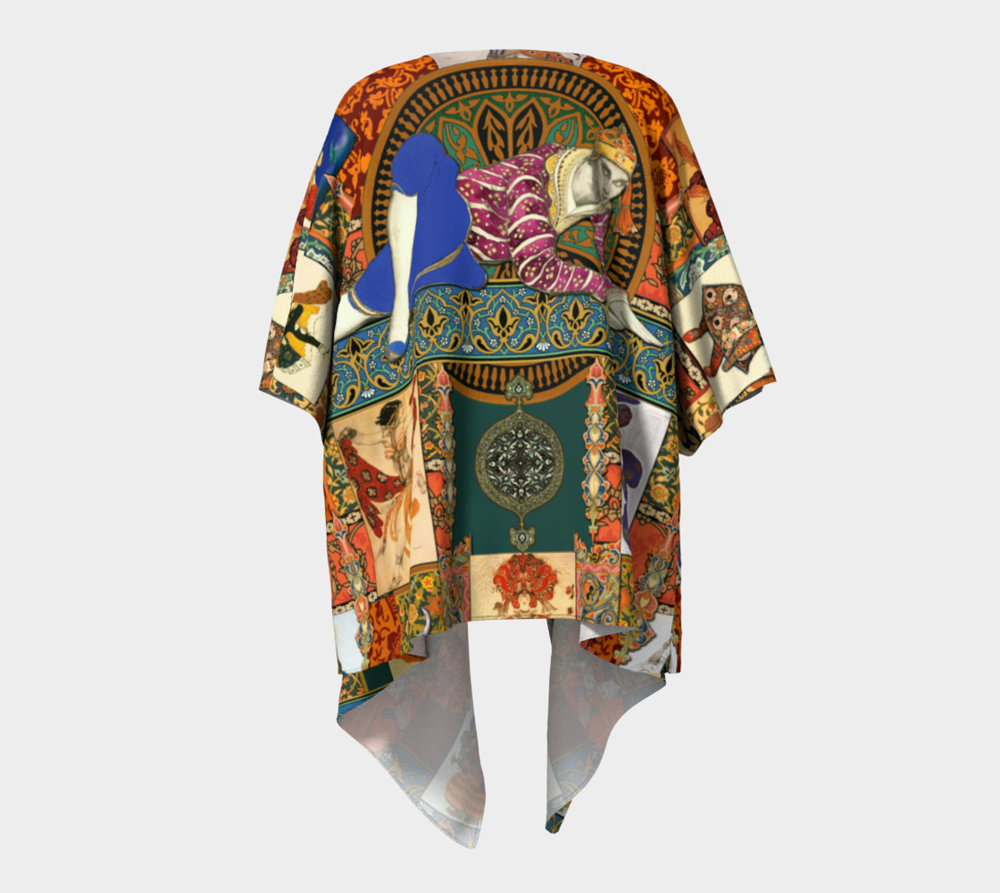 Ballets Russes Tapestry - Draped Kimono Miniature #5