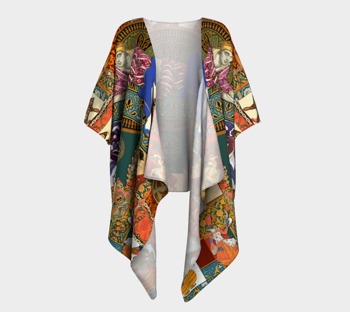 Ballets Russes Tapestry - Draped Kimono Miniature #2