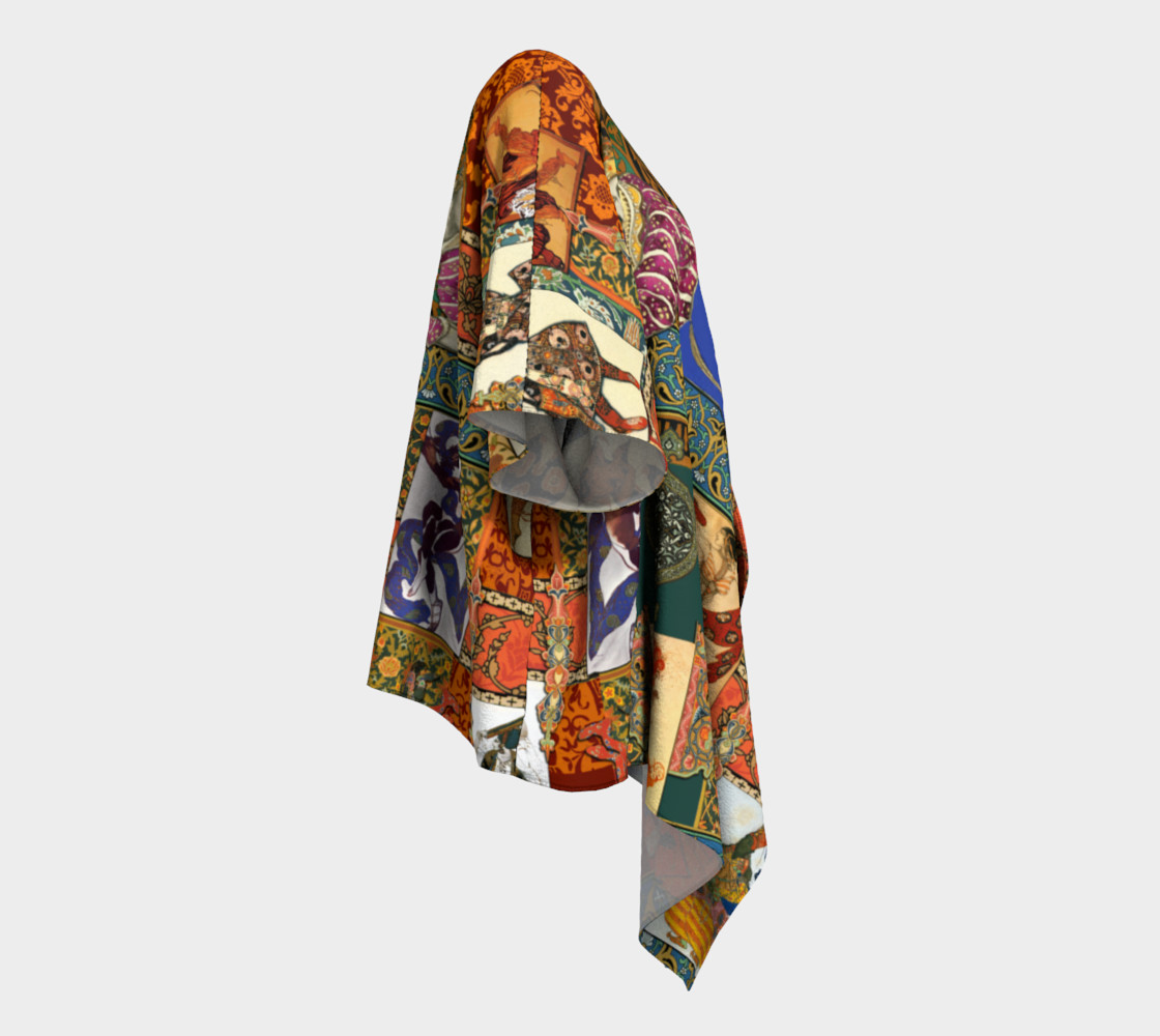 Ballets Russes Tapestry - Draped Kimono Miniature #4