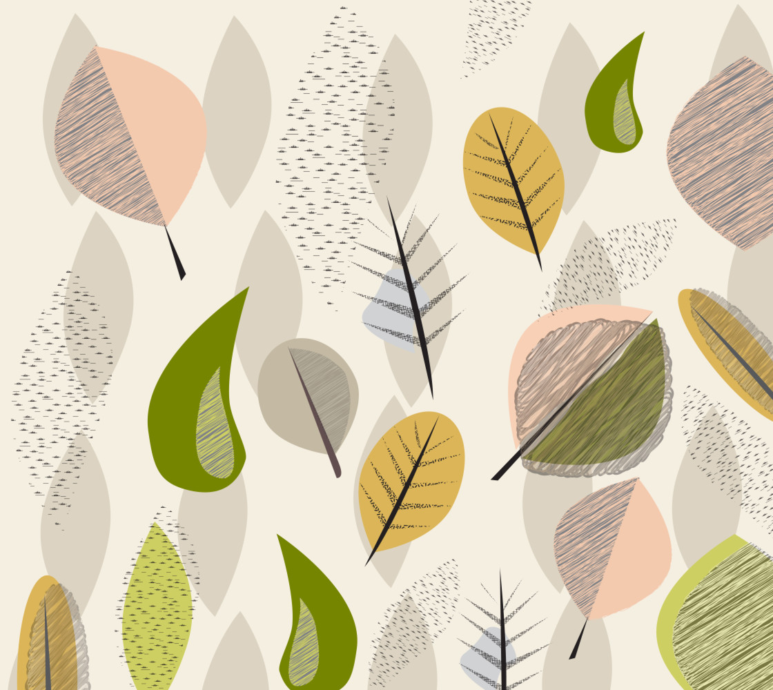 Mid-Century Modern Falling Leaves Lrg  thumbnail #1