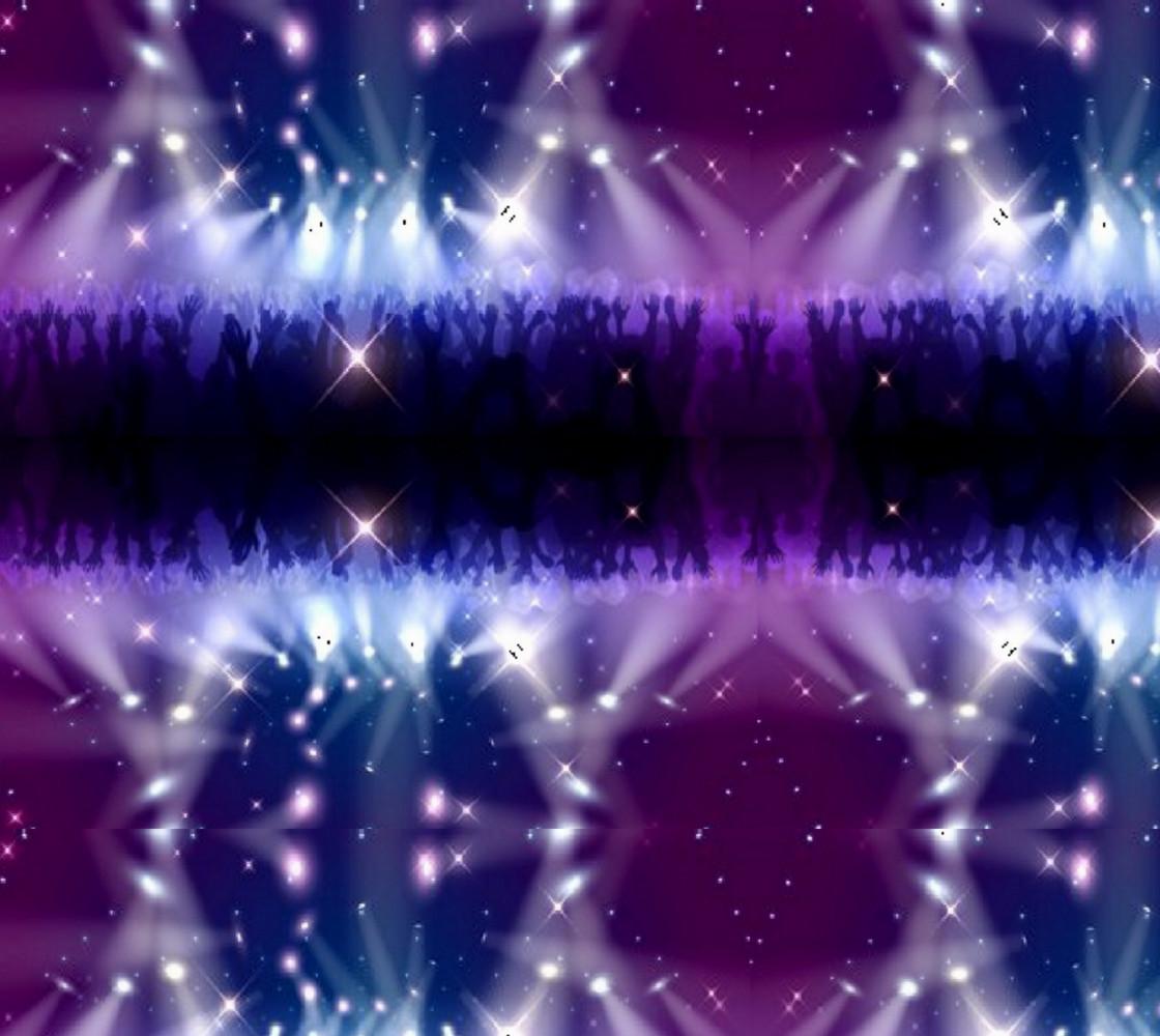 Purple and Blue Burst Fabric thumbnail #1