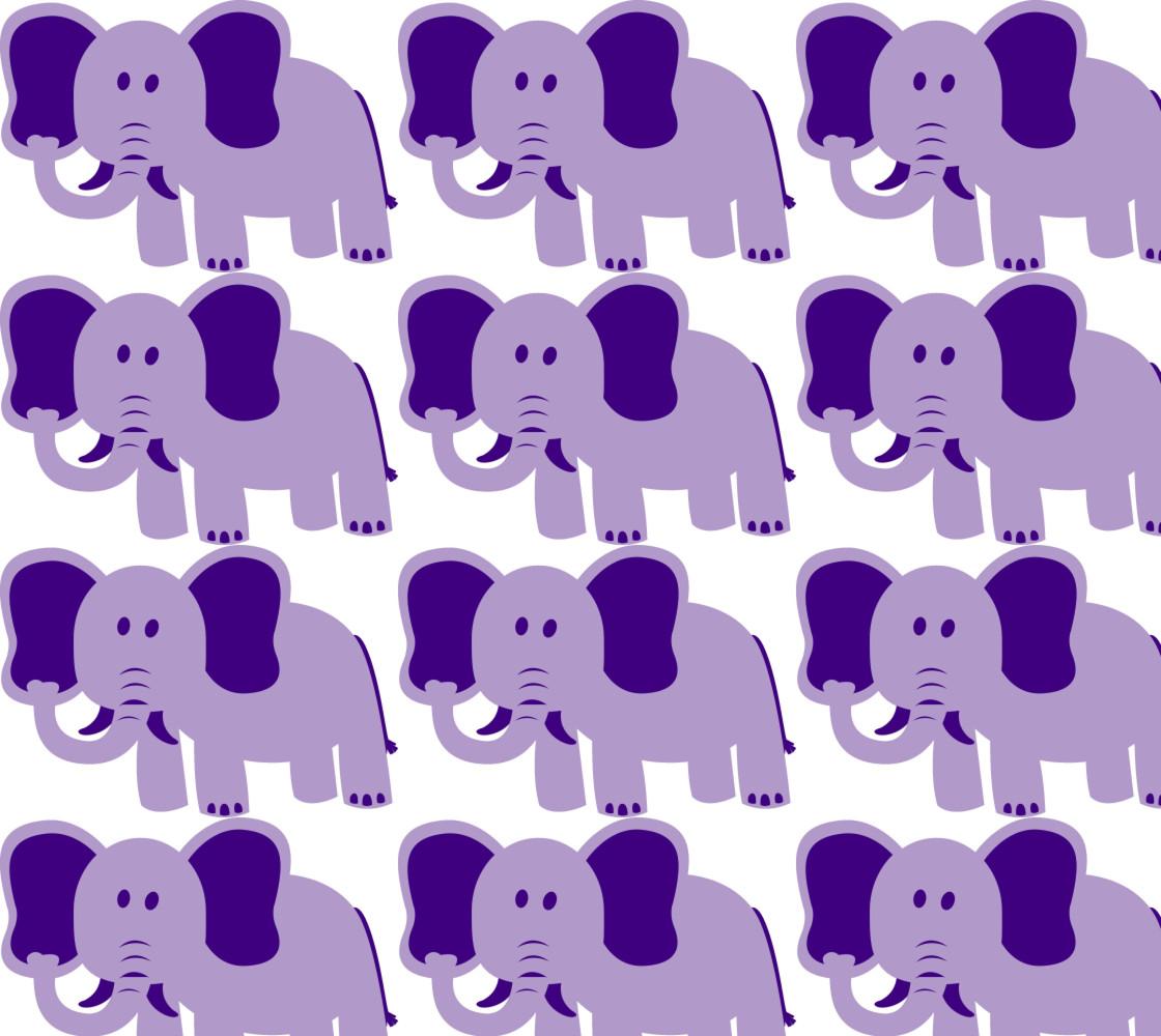 Purple Elephant Fabric thumbnail #1