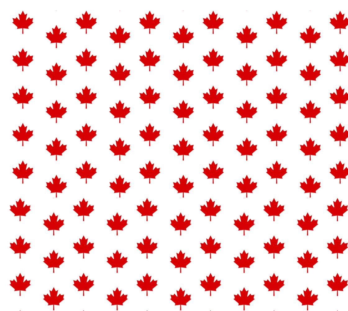 Red Maple Leaf Pattern from Flag of Canada Fabric thumbnail #1