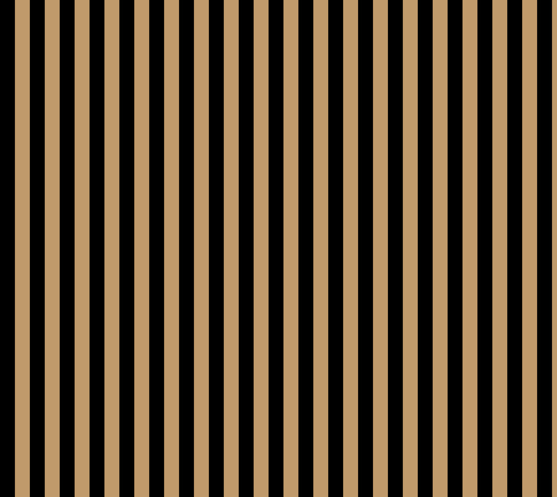 One Inch Black and Camel Brown Vertical Stripes. Each stripe is one inch wide.  thumbnail #1