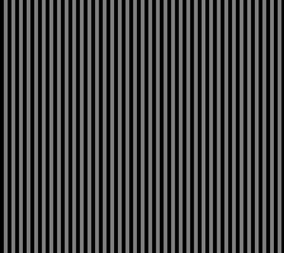 Half Inch Black and Medium Grey Vertical Stripes. Each stripe is a half inch wide. thumbnail #1