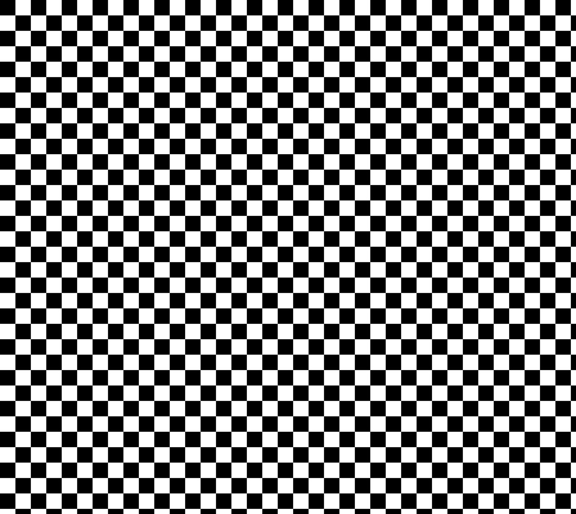 One Inch Black and White Checkerboard Squares. Each square is one inch wide and tall.  Miniature #1