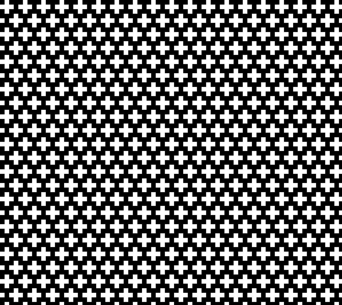 White Crosses on Black Miniature #1