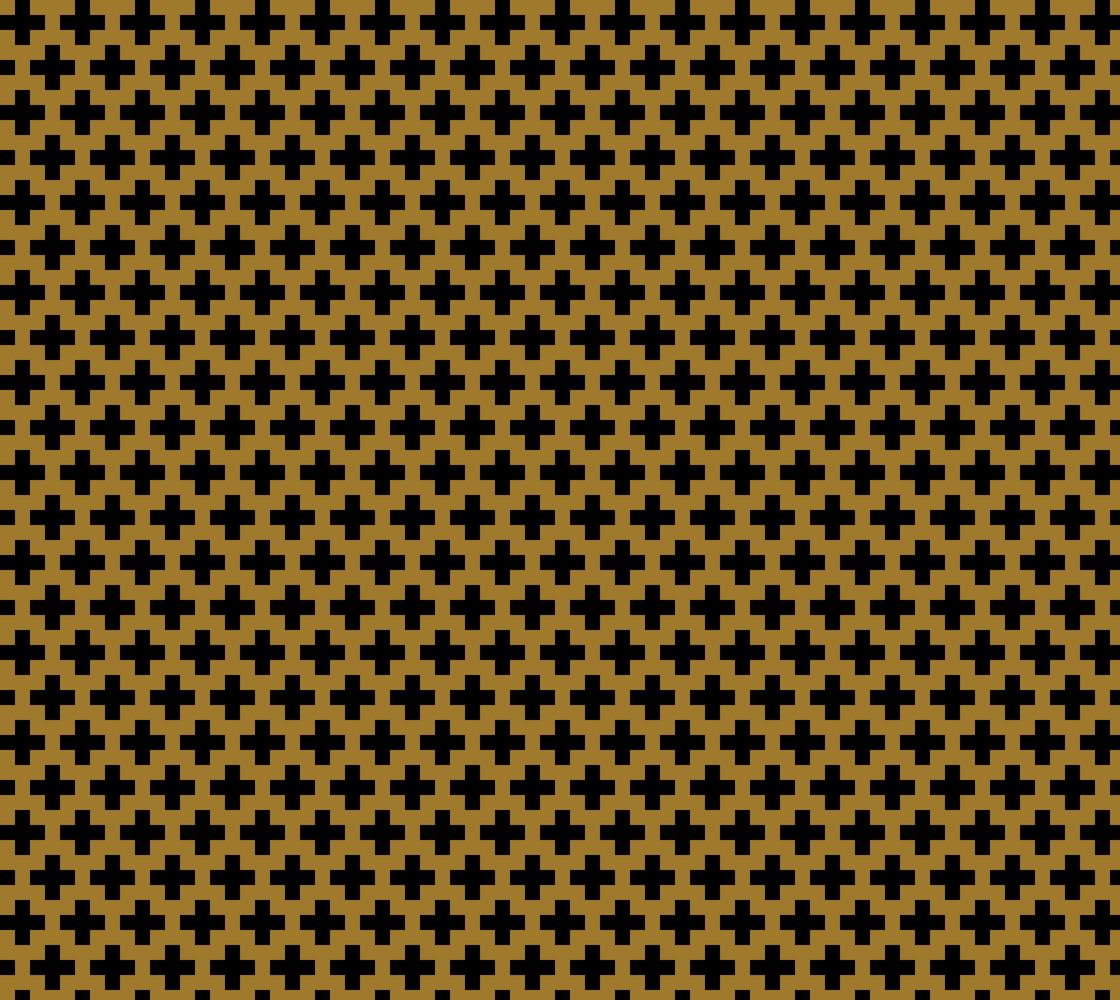 Black Crosses on Matte Antique Gold thumbnail #1