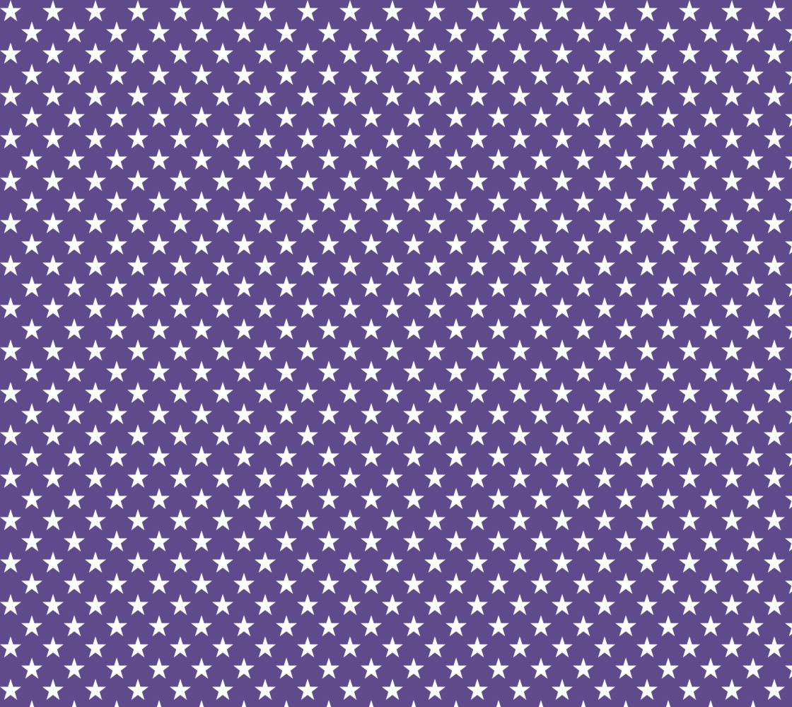 White Stars on Ultra Violet Purple Miniature #1