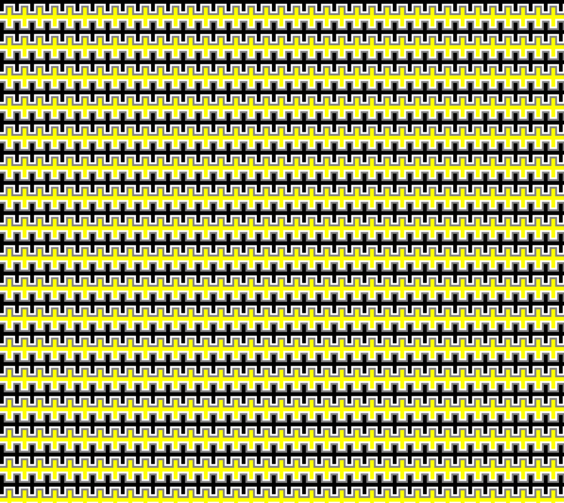 Black, Yellow, Grey, and White Southwest Blanket Miniature #1