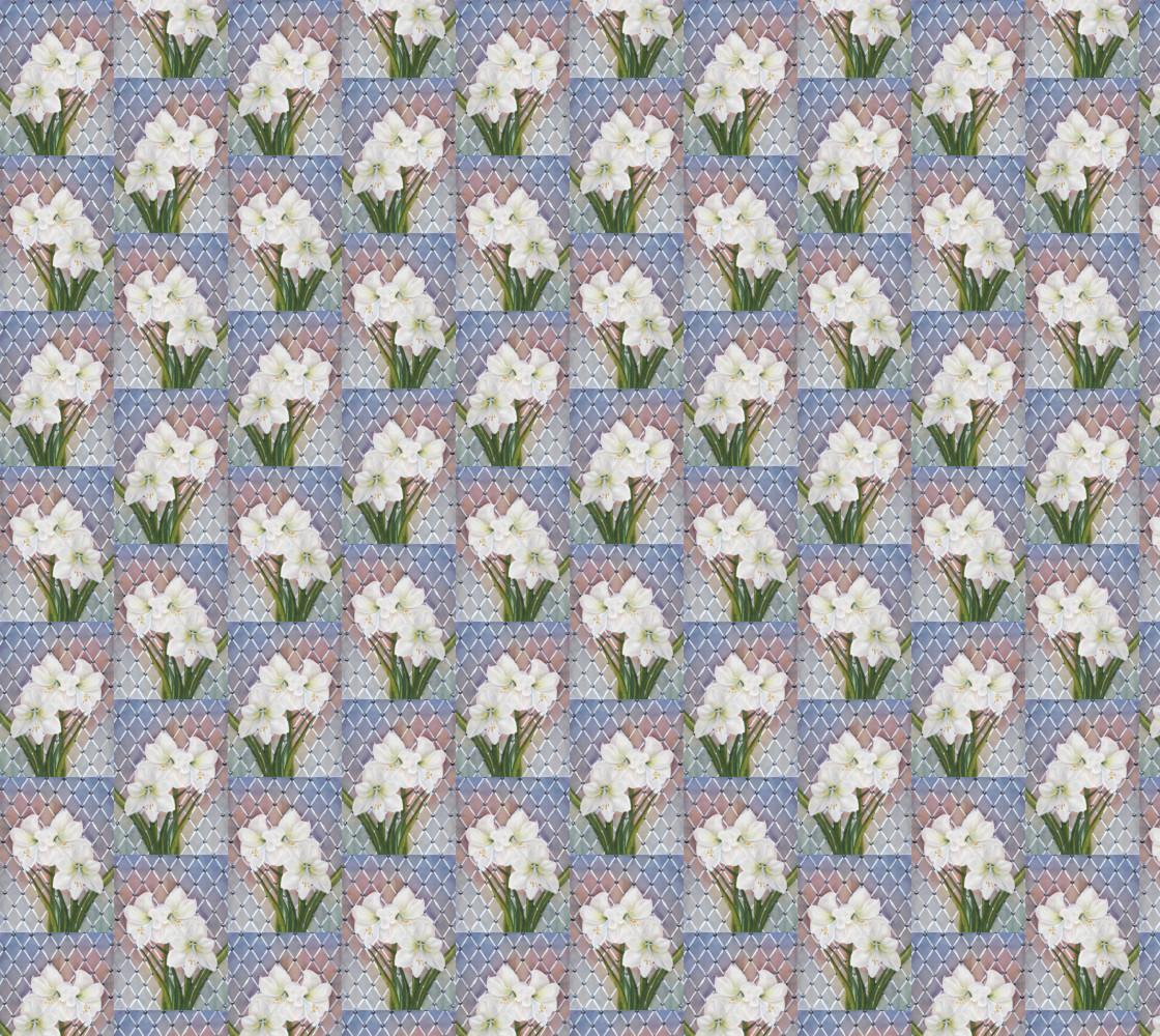 White Amaryllis Lily Flowers thumbnail #1