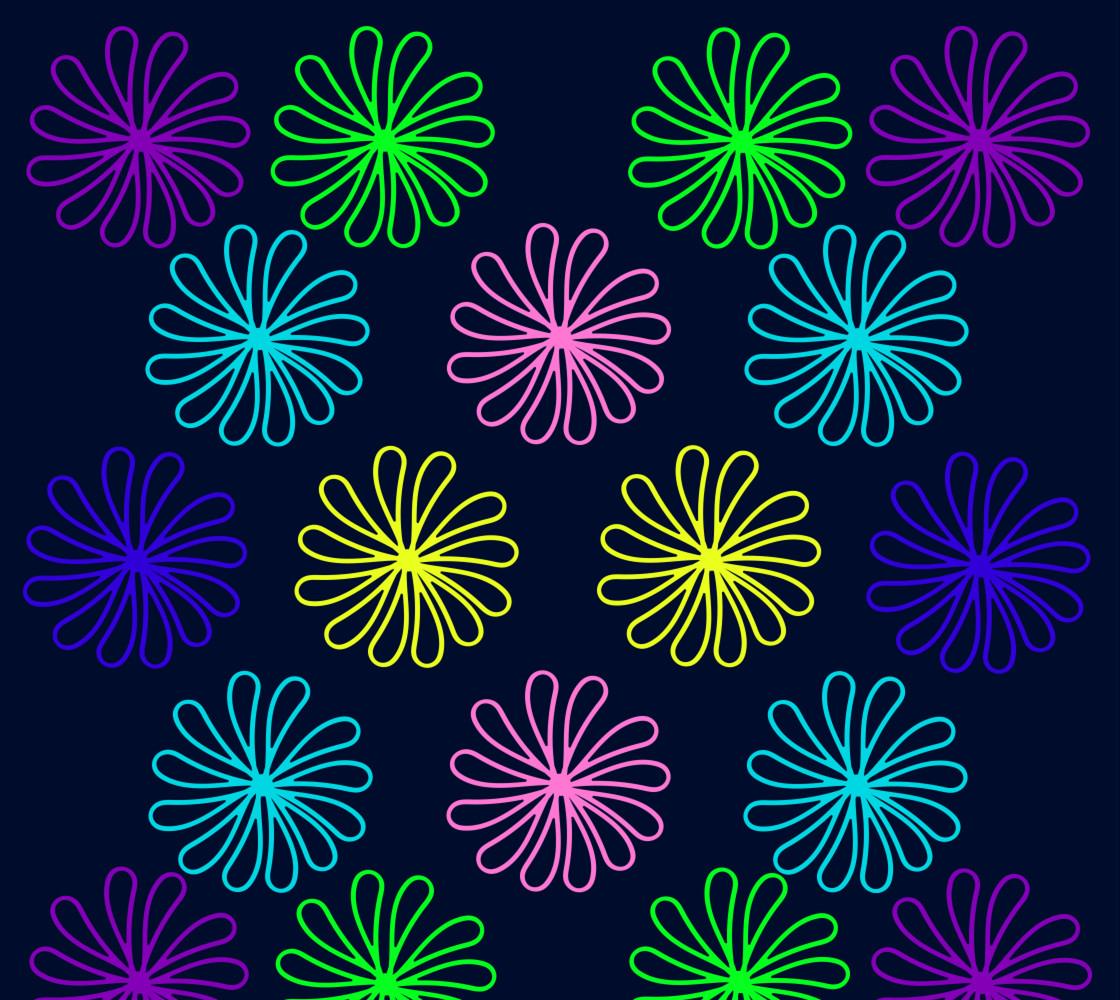 Daisy Maze Midnight Blue Fabric thumbnail #1
