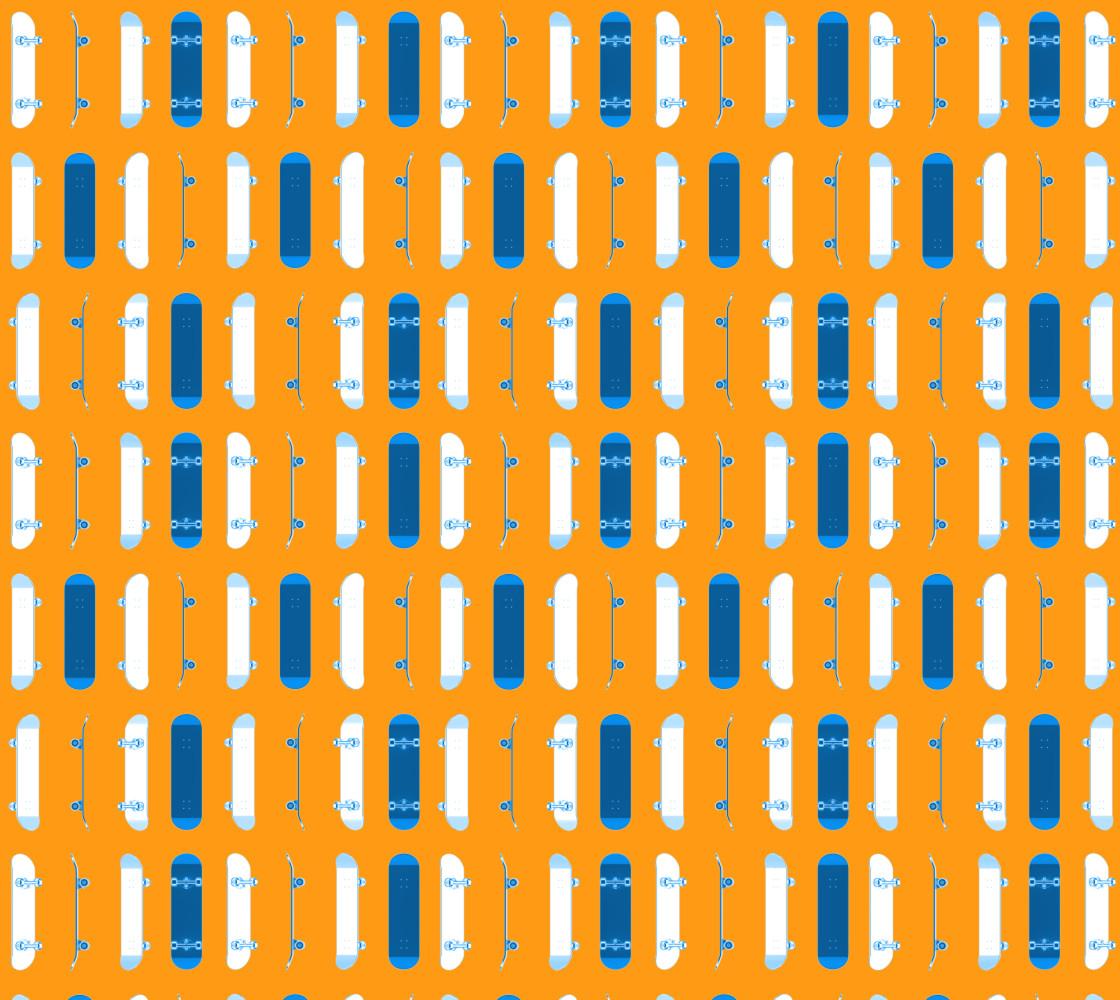 Blue Skateboards on Orange thumbnail #1